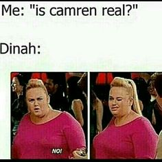 its am and i just watched pitch perfect 2 and the internet is giving me memes just when i just experienced it. its weird but its cool at the same time Funny Quotes, Funny Memes, Hilarious, Memes One Direction, Fat Amy, Youtube Instagram, Fith Harmony, Fifth Harmony Camren, Crush Humor