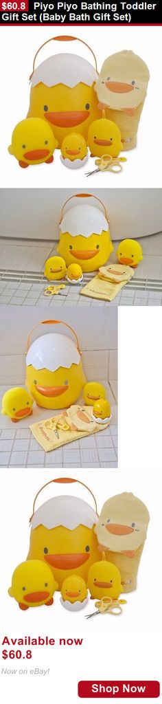Baby Bathing Accessories: Piyo Piyo Bathing Toddler Gift Set (Baby Bath Gift Set) BUY IT NOW ONLY: $60.8