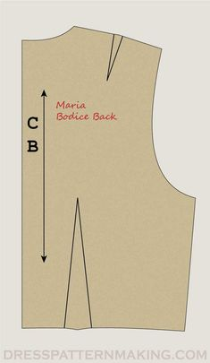 Instructions: Bodice Back - Dress Patternmaking Bodice Pattern, Pattern Drafting, Sewing Techniques, Dress Backs, Pattern Making, Dressmaking, Sewing Tutorials, Couture, Patterns