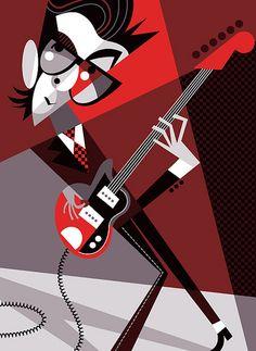 Elvis Costello by Pablo Lobato. #music #musicart http://www.pinterest.com/TheHitman14/musician-drawn-%2B/
