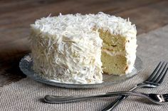 Two of a Kind | Coconut Cake with Cream Cheese Frosting | http://www.twoofakindcooks.com