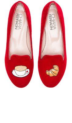 Chiara Ferragni Italian Breakfast Flat in Red | REVOLVE Pump Shoes, Slip On Shoes, Flat Shoes, Chiara Ferragni Shoes, Italian Breakfast, Mode Shoes, Me Too Shoes, Fashion Shoes, Footwear