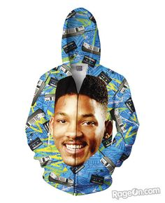 Fresh Prince Zip-Up Hoodie - Rage On! - The World's Largest All-Over Print Online Retailer
