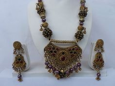 Navratri hand crafted antique Golden Oxidized finish by mfussion, $17.00