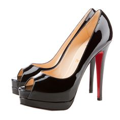 The style that never dies: Black Christian Louboutin Open Toe Pumps!