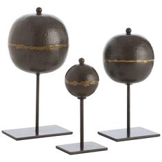 Arteriors Rocco Sculptures Set of 3