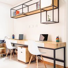 40 Clever DIY Furniture Hacks One of the best things about being a creative DIYer is taking somethin Office Furniture Design, Diy Furniture Plans, Home Office Design, Metal Furniture, Home Decor Furniture, Industrial Furniture, Cool Furniture, Diy Home Decor, House Design