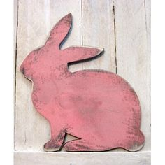 Loving this Vintage Pink Easter Bunny Wooden Décor on Rabbit Crafts, Bunny Crafts, Easter Crafts, Rabbit Art, Easter Projects, Rabbit Toys, Vintage Pink, Vintage Easter, Rustic Vintage Decor