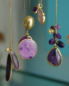 Raining every shade of purple Sugilite amulet necklaces#PippaSmall #PippaSmallJewellery #EthicalJewellery #EthicallyMade #TheAmuletCollection #AmuletNecklaces #Sugilite #SugiliteJewellery