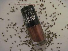 Makyaj Kitabı: Maybelline Color Show Oje