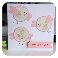 New baby girl card by 'Little Things'