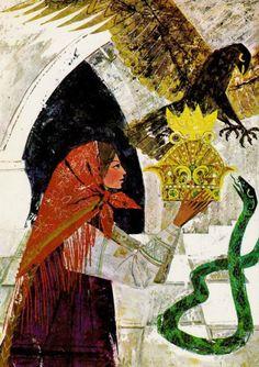 Krystyna Turska - Illustrations to Russians Fairy Tales