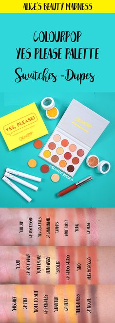 colourpop yes please palette swatches dupes comparisons Colourpop Eyeshadow Swatches, Colourpop Cosmetics, Natural Beauty Tips, Organic Beauty, Aqua Blue, Colourpop Yes Please Palette, Affordable Eyeshadow Palettes, American Girl, Makeup Drawing