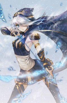 league of legends, ashe, and anime image Manga Girl, Art Manga, Manga Anime, Anime Girls, Chibi, Anime Fantasy, I Love Anime, Awesome Anime, Kawaii Anime
