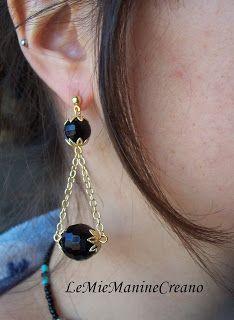 LeMieManineCreano: Orecchini con perline