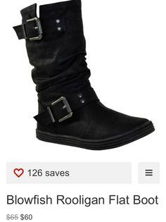 I love flat boots!