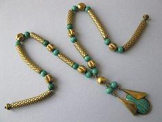 Art Deco Egyptian Revival Necklace