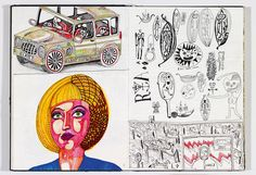 Sketch Book Book captures the evolution of Grayson Perry's famed class tapestries. - book captures the sketches and evolution of Grayson Perry's famed class tapestries. Grayson Perry, Ap Studio Art, Artist Sketchbook, China Art, Contemporary Artists, Contemporary Landscape, Cool Drawings, Realistic Drawings, Book Journal