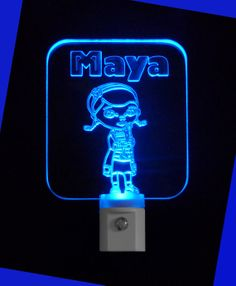 Kids Doc McStuffins Inspired Personalized LED Night Light, with Name by Unique LED Products