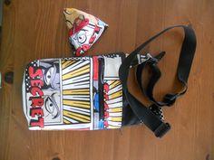 Petit sac Be-Bop cousu par Emilie dans un imprimé comics - Patron couture Sacôtin www.sacotin.com