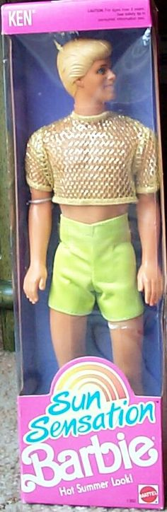 Barbie - Sun Sensation Ken, 1991 (wishlist! I think the only Ken who is even more gay is the Magic Earring one xD )