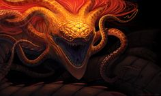 Golden Interdimensional Serpent Redux by GuthrieArtwork.deviantart.com on @deviantART