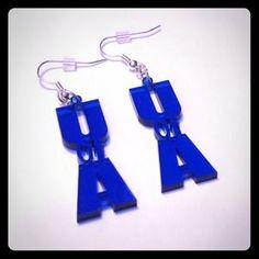 Jewelry - University of Arizona Blue Earrings U of A