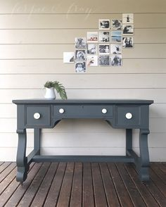 Desk painted by Amanda of Ferpie + Fray using Slate by General Finishes