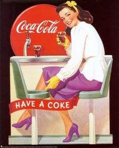 Old advertising for Coca Cola