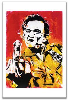 Print - Johnny Cash - Thank You Nashville - Country Music The Man in Black Guitar Pop Art Stencil Signed Art Pop, Johnny Cash Middle Finger, Rockabilly, Nashville, Decoupage, Country Music Singers, Classic Image, Classic Rock, Poster Prints