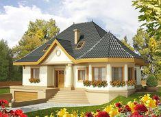 Tulipan G2 - zdjęcie 1 My House Plans, Modern House Plans, Beautiful House Plans, Beautiful Homes, Small House Design, Modern House Design, Bungalow Style House, House With Porch, Dream House Exterior