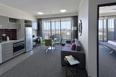 Enjoy all the comforts of home in a 2 Bedroom Executive Suite at Palmerston Darwin. Executive Suites, Pent House, Darwin, Two Bedroom, Kitchen Cabinets, Home Decor, Decoration Home, Room Decor, Cabinets