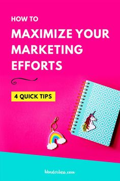 4 Quick Tips to Maximize Your Marketing Efforts |  Learn how to market more effectively so you can make the most of your time, effort and growth! (And to have a bigger impact and to increase your income.)   #onlinemarketing #onlinebusiness #marketingtips