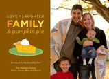 Love, Laughter, Family Thanksgiving card