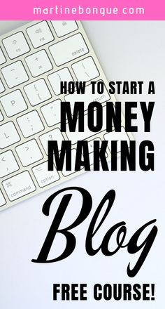 Get immediate access to my step-by-step blogging & affiliation course ABSOLUTELY FREE! The blogging course will help you build your own blog: Quickly and easily EVEN if you are not technical. #martinebongue #blogging #blogging101 #startblogging #bloggingforbeginners #bestbloggingtips #blogging101 #makemoney #makemoneyonline #startablog Make Money Blogging, Make Money Online, How To Make Money, Money Tips, Saving Money, Make Blog, How To Start A Blog, Business Tips, Online Business