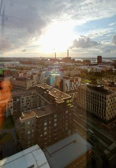 A view from Clarion Rooftop Pool over Jätkäsaari, Helsinki Rooftop Pool, Award Winner, Helsinki, 5 Star Hotels, Paris Skyline, Travel, Viajes, Destinations, Traveling