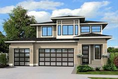 Contemporary Home Plan With Options - 23523JD | 2nd Floor Master Suite, Butler Walk-in Pantry, CAD Available, Contemporary, Den-Office-Library-Study, Loft, Narrow Lot, Northwest, PDF, Prairie | Architectural Designs