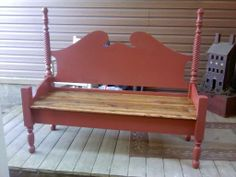 Salvaged Seats: Repurposed Antique Bed Bench