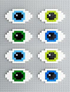 Lego | 8-bit eyes - Halloween decoration in Lego
