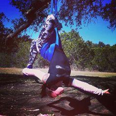 Aerial Yoga at home! Go to OmniGym.com