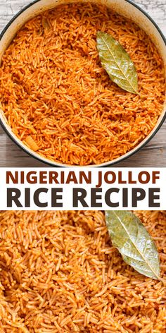 This Nigerian Jollof Rice recipe is easy to make for a hearty vegetarian side dish or dinner. It includes red bell peppers, tomatoes, onions, and spicy peppers. Serve jollof rice with chicken, or your favorite plant-based protein.