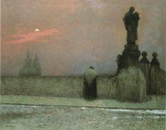 Early Evening on Hradčany - Jakub Schikaneder
