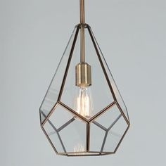 Check out Prism Drop Pendant from Shades of Light Mod and trendy, with its diamond geometric lines, clear glass and burnished antique brass finish, this pendant will captivate and draw you in. A perfect choice for midcentury interiors! Bathroom Pendant Lighting, Bathroom Ceiling Light, Ceiling Lights, Pendant Lamps, Art Deco Pendant Light, Clear Glass Pendant Light, Vintage Pendant Lighting, Antique Lighting, Pendant Light Fixtures