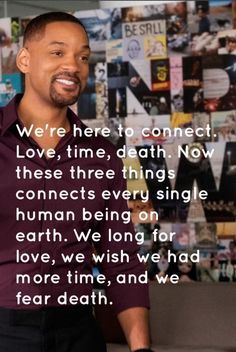 Collateral beauty quote, love time and death.