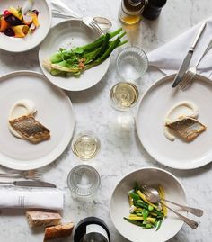 White wine or rosè is perfect match to Spring dinners.