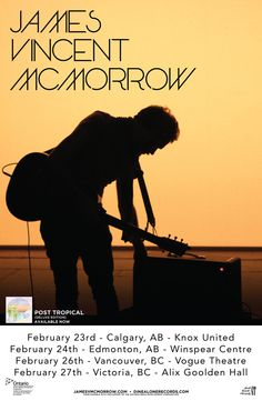 James Vincent McMorrow just released the deluxe edition of his 2014 masterpiece, Post Tropical. James heads back to Canada, with stop in Calgary, Edmonton, Vancouver and Victoria. Music Is Life, Live Music, James Vincent, Calgary, Vancouver, Tropical, Canada, Victoria