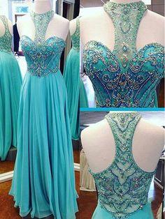 Charming Prom Dress,Chiffon Prom Dress,Beading Prom Dress,Off the