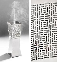 Mabkhara designed for Zari crafts by Nedda El-Asmar