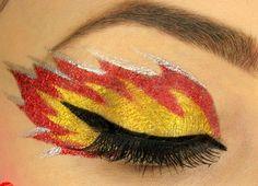 Flames.  Eye makeup costume ideas