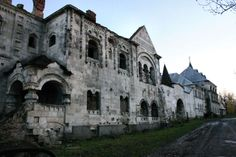 Abandoned Monastery in Town of Pushkin in St Peterburg, Russia.